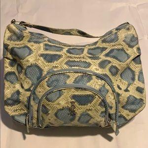 Christian Audigier Holly Snake Hobo Bag - Blue